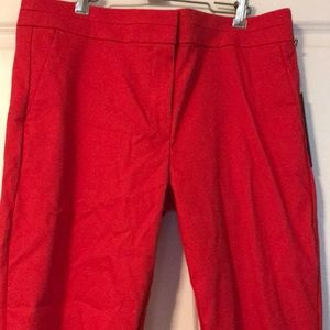 NWT LOFT Red Marisa Pants - Size 10 Tall